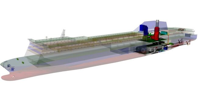 COGES LPG fueled ferry cutaway