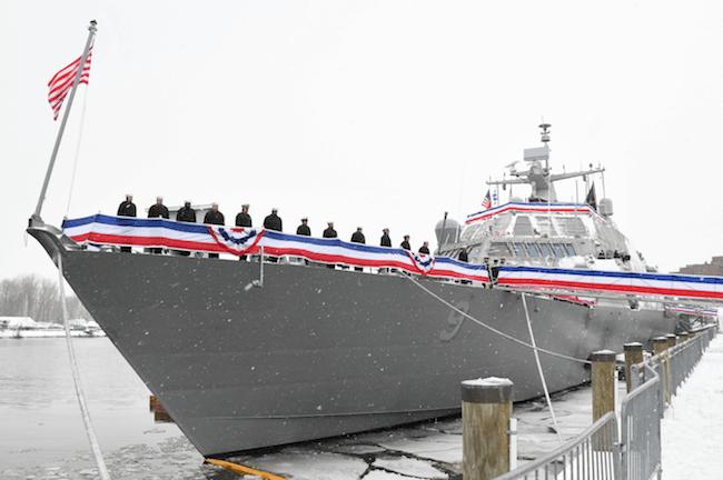 USS Little Rock Stuck