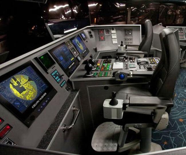radar on ship's bridge