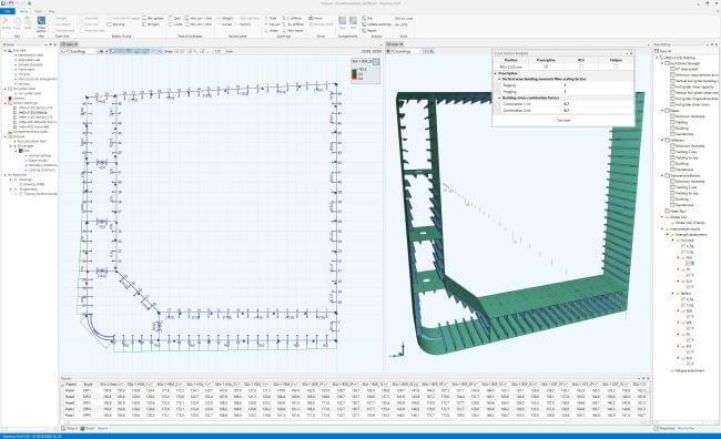 Screenshot of new Nauticus Hull version showing the hull scantling design program. (1)