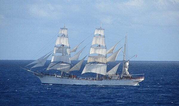 The Tall Ship That Harnesses The Wind To Recharge Its Batteries