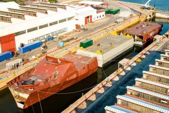 Damen and Mexican Navy cooperating on the modular construction of the combatant vessel (1)_lowres
