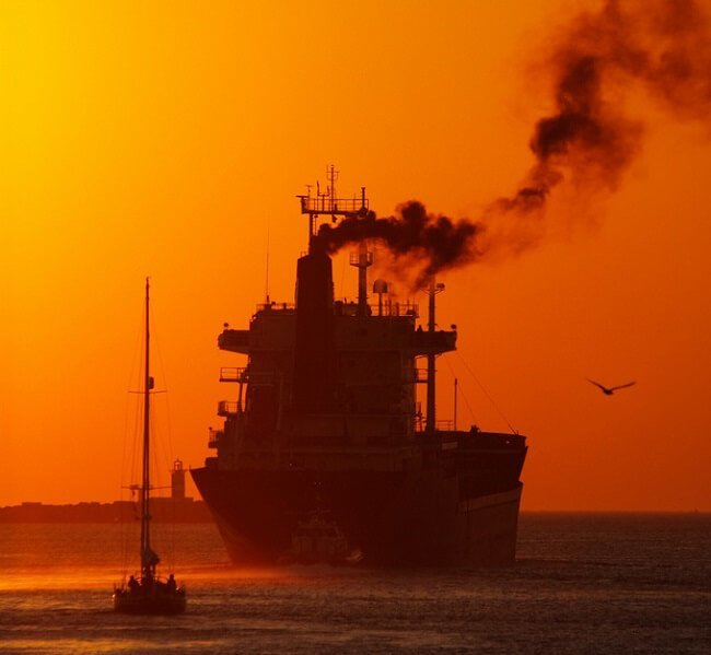 pollution sunset