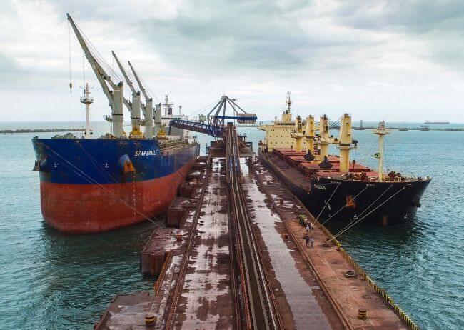 Essar iron ore handling complex of 24 MTPA at Vizag Port (1)