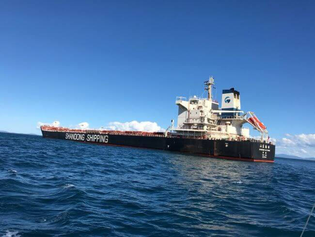 bulk carrier hong kong flagged MV Shandong Hai Wang