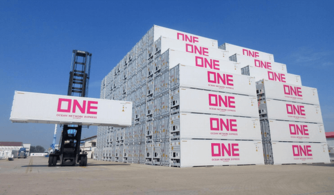ocean network express ONE reefer containers