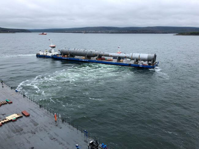 180925 Gazprom Amur GPP Project - barge transport