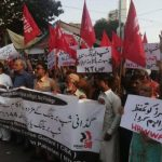 Shipbreaking Workers Union and NTUF jointly organized a protest rally in Gadani against the increase in accidents and the closure of the yards