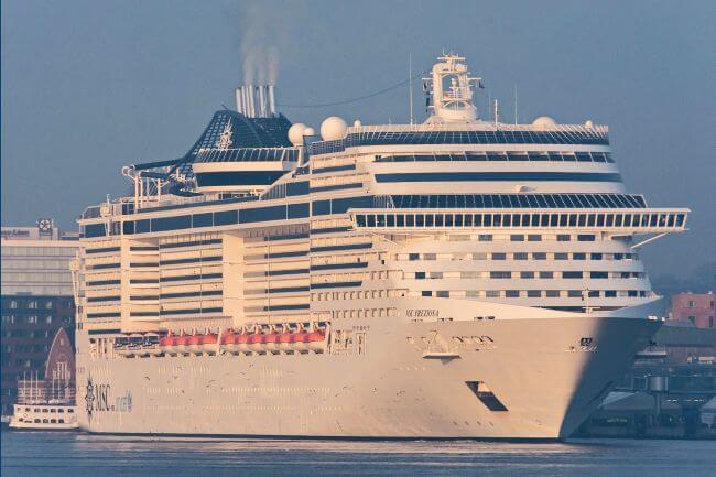 MSC cruise Preziosa in Kiel