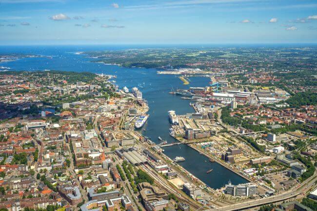 Port Of Kiel Kieler Förde