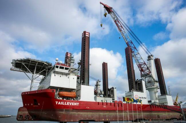 Jan De Nul names offshore installation vessel Taillevent
