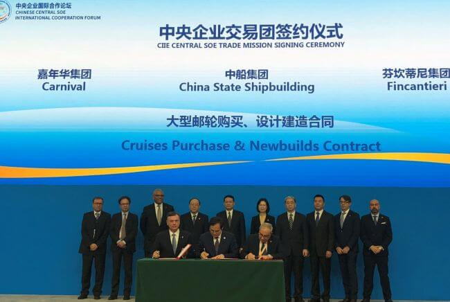 CSSC, Carnival and Fincantieri Cruises Purchase & Newbuilds Contract Signing