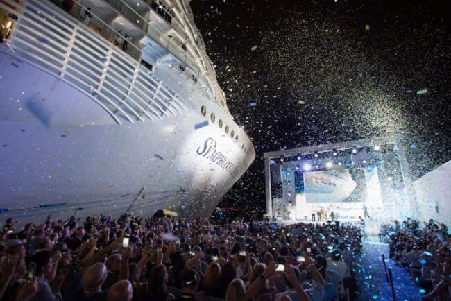 Royal Caribbean Symphony of the seas officially named by First Godfamily_!