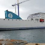 Baleària begins the remotorization of Naples, the first of the six ferries that will change to LNG