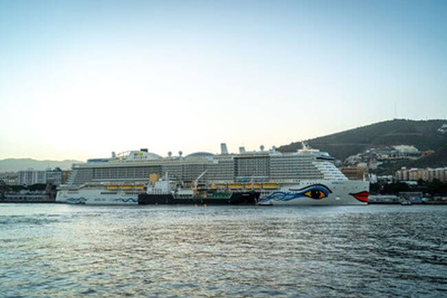 Carnival Corporation's Newest Ship, AIDAnova from AIDA Cruises, Makes Maiden Call in the Canary Islands as World's First Cruise Vessel Powered by LNG