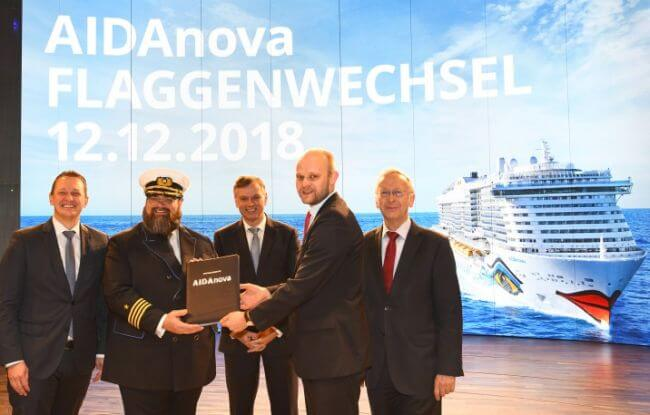 AIDAnova_World First LNG cruise Ship_Delivery