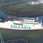Baleària sets afloat the 'Marie Curie', the second of its 'LNG ferries' under construction