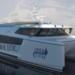 Concept photo of New Zealand's first fully electric ferry