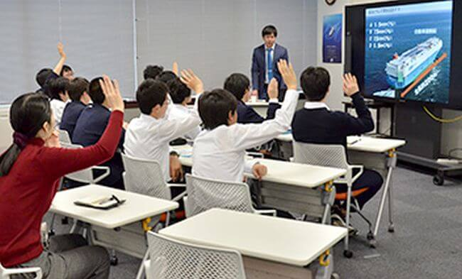 MOL Welcomes Junior High Students for Career Study Program at Head Office