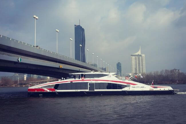 DANUBE HIGH-SPEED, LOW-WASH FERRY OFFERS NEW LEVEL OF EFFICIENCY AND RELIABILITY