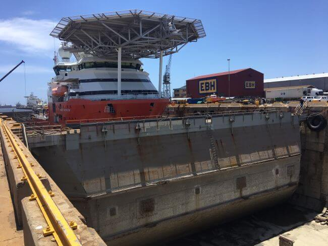 Floating Caisson Repaired at Sturrock Dry Dock in Cape Town Ahead of Fabrication of New Structure