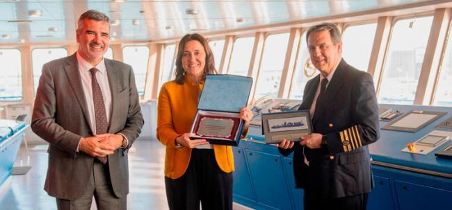 The 'Hypatia de Alejandría' of Baleària, the first ferry powered by LNG from the Mediterranean, starts sailing