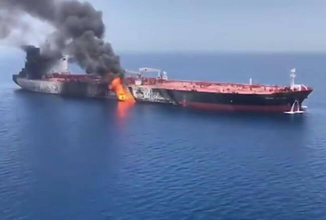 Tanker Attack Gulf of oman_Iran