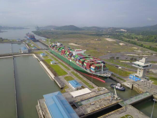 Evergreen Triton_panama canal transit_