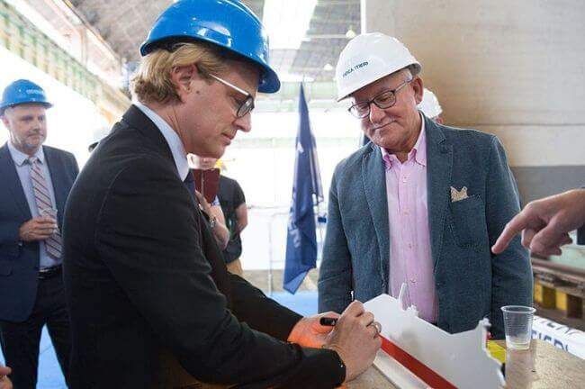 Windstar Cuts Steel For Second Star-Class Ship_With Fincantieri