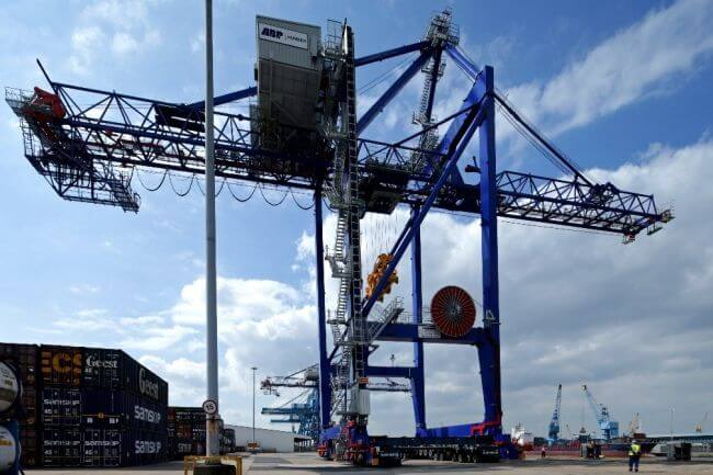 Cranes in service at ABP's Port of Hull