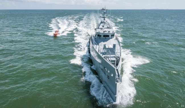 Damen FCS-3307 Patrol Vessels For Homeland Integrated Offshore Services Limited Arrive In Nigeria