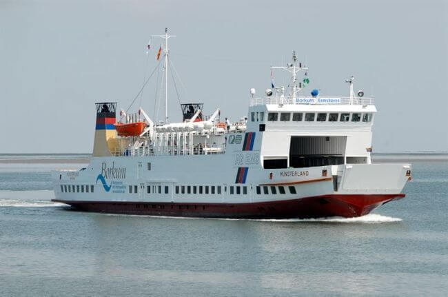 The German ferry 'Münsterland' will be retrofitted with a package of Wärtsilä LNG solutions to minimise its environmental footprint. Copyright: Aktien-Gesellschaft 'Ems'