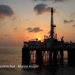 oil rig silhoutter