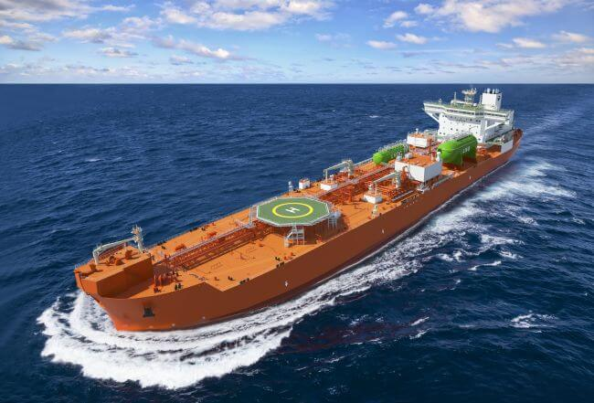 world's first LNG Dual-Fuel Dynamic Positioning Shuttle Tankers unveiled in South Korea