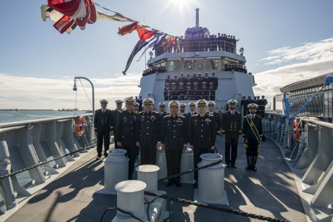 Commissioning ceremony Damen OPV 1900 PNS YARMOOK