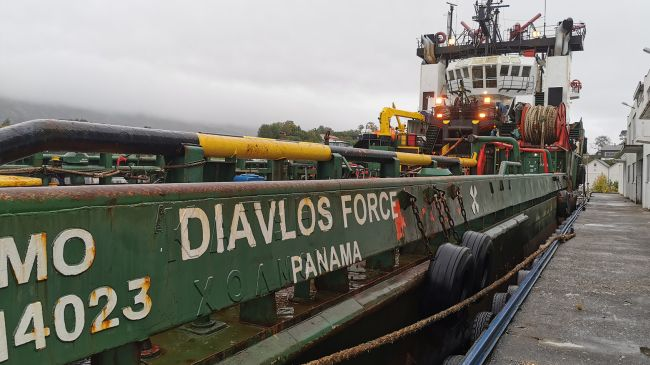 MV Diavlos Force in harbour in Norway - Source ITF