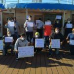 Stranded Indian Seafarers Protest On Marella Discovery