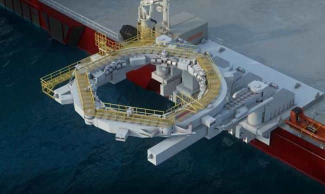 monopile installation solution, developed between MacGregor and Kongsberg Maritime, eliminates unnecessary temporary mooring, offering substantial savings to the offshore wind energy market