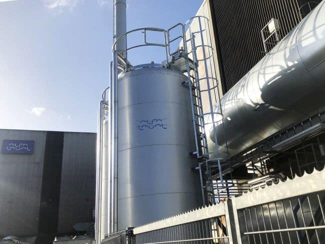 Fuel tanks at the Alfa Laval Test & Training Centre