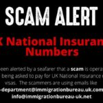 Scam Alert Seafarers Asked To Pay £630 For UK National Insurance Number