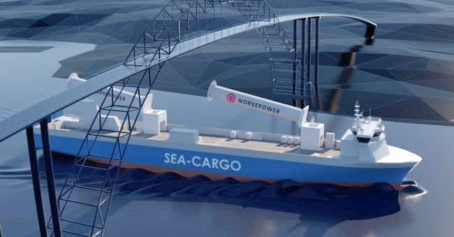 Norsepower-Unveils-First-Tiltable-Rotor-Sail-Installation-With-Sea-cargo-Agreement