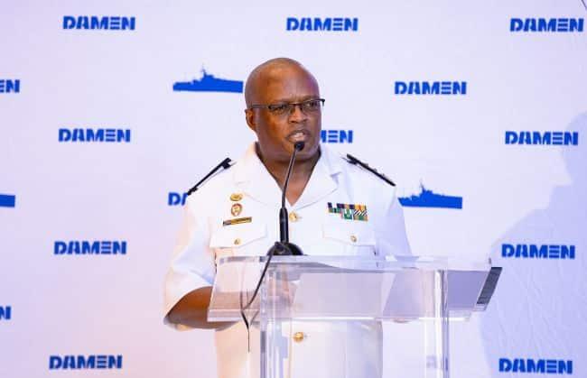Address by Chief of the South African Navy, Vice Admiral Mosiwa Hlongwane (LR)
