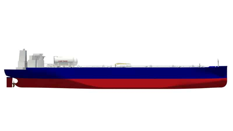 crude tankers to run on LNG