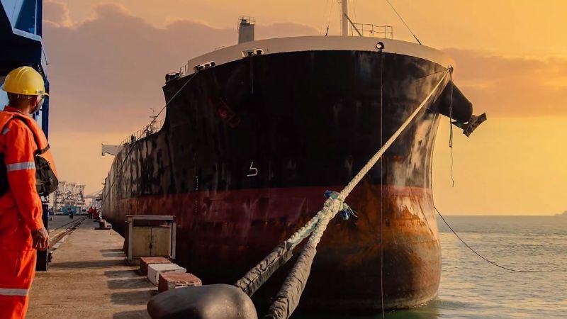 Ship docked representation
