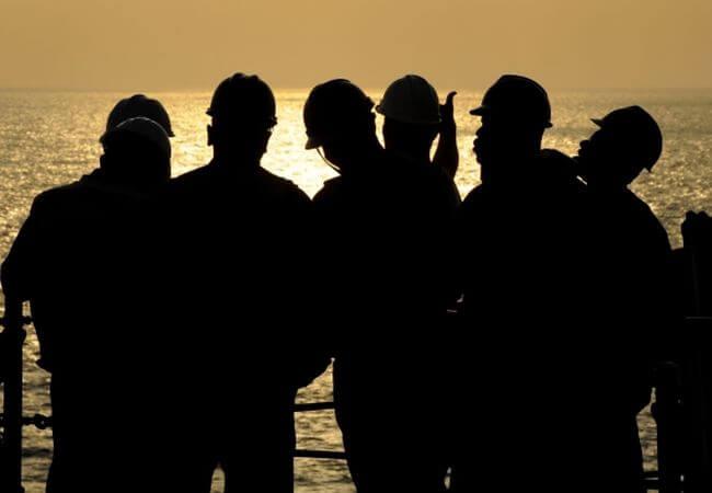 Seafarers silhouette