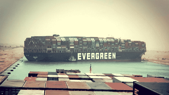 MV Ever Given Grounded in suez canal