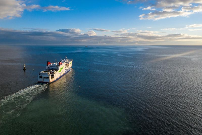 Stena line vessel sailing